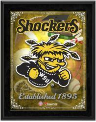 "Wichita State Shockers Team Logo Sublimated 10.5"" x 13"" Plaque"
