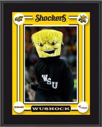 "Wichita State Shockers WuShock Mascot Sublimated 10.5"" x 13"" Plaque"