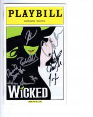 Wicked Hand Signed Ny City Playbill+coa      Signed By 2012 Cast       Awesome