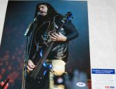 WICKED Robert Trujillo signed 11 x 14, Metallica, LULU, Proof, COA, PSA/DNA
