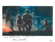 Wild Bill Guarnere signed WWII Band of Brothers 101st Airborne Easy Company 506th 8.5x11 Photo 4 insc's -JSA (Soldiers at Night)