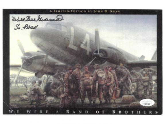 Autographed W.F. Luhrsen Photo - Wild Bill Guarnere WWII Band of Brothers 101st Airborne Easy Company 506th 8 5x11 So Philly JSA Valor Airplane)