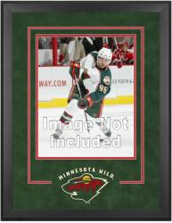 "Minnesota Wild Deluxe 16"" x 20"" Vertical Photograph Frame - Mounted Memories"