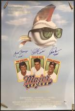 WILD THING!!! Charlie Sheen and cast Signed MAJOR LEAGUE 40x27 Movie Poster BAS