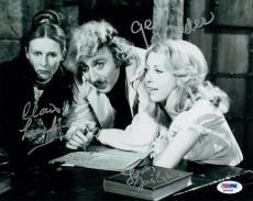 Wilder/Leachman/Garr Signed Young Frankenstein Auto 8x10 B/W Photo PSA/DNA #Z092