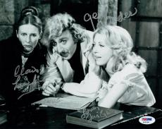 Wilder/Leachman/Garr Signed Young Frankenstein Auto 8x10 B/W Photo PSA/DNA #Z092