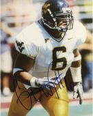 Grant Wiley West Virginia Mountaineers Autographed 8'' x 10'' White Jersey Photograph