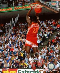 "Atlanta Hawks Dominique Wilkins ''Human Highlight'' Autographed 8"" x 10"" Photo - Mounted Memories"