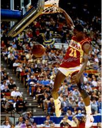 Dominique Wilkins Atlanta Hawks Autographed 16'' x 20'' Ball Through Net Photograph