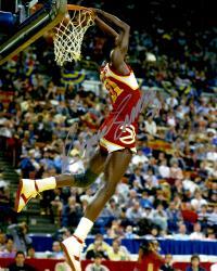 Dominique Wilkins Atlanta Hawks Autographed 16'' x 20'' Reverse Dunk Photograph