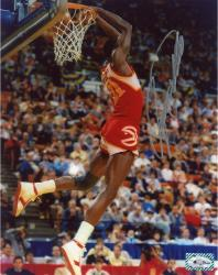 Dominique Wilkins Autographed Hawks 8x10 Photo