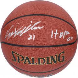 "Dominique Wilkins Autographed Indoor/Outdoor Basketball with ""HOF 06"" Inscription"