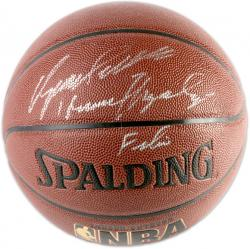 Atlanta Hawks Dominique Wilkins Human Highlight Film Autographed Spalding Indoor/Outdoor Basketball - Mounted Memories