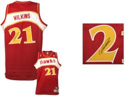Wilkins, Dominique Auto (red/adidas/swingman) Jersey