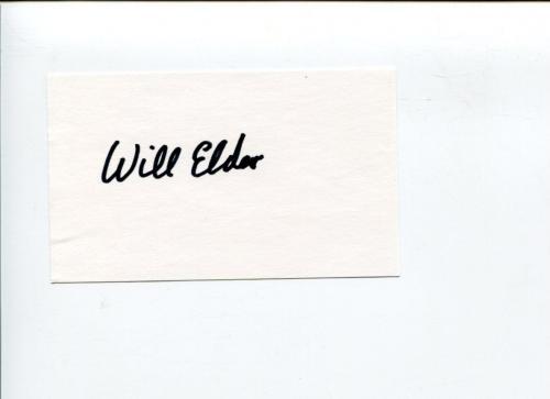 Will Elder Playboy Mad Magazine Cartoonist Artist Illustrator Signed Autograph