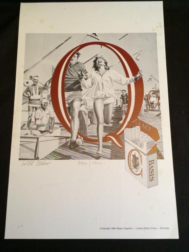 Will Elder Playboy Mad Magazine Cartoonist Illustrator Signed Autograph LE Print