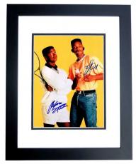 Will Smith and Alfonso Riberio Signed - Autographed The Fresh Prince of Bel-Air 11x14 Photo BLACK CUSTOM FRAME