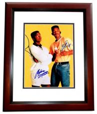 Will Smith and Alfonso Riberio Signed - Autographed The Fresh Prince of Bel-Air 11x14 Photo MAHOGANY CUSTOM FRAME