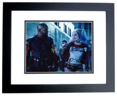 Will Smith AND Margot Robbie Signed - Autographed Suicide Squad 11x14 Photo BLACK CUSTOM FRAME - Deadshot and Harley Quinn