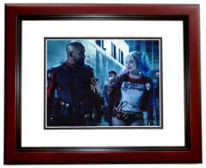 Will Smith AND Margot Robbie Signed - Autographed Suicide Squad 11x14 Photo MAHOGANY CUSTOM FRAME - Deadshot and Harley Quinn
