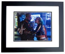 Will Smith AND Margot Robbie Signed - Autographed Suicide Squad 8x10 Photo BLACK CUSTOM FRAME - Deadshot and Harley Quinn