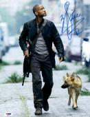 """Will Smith Autographed 11""""x 14"""" I Am Legend Walking With Dog Photograph - PSA/DNA COA"""