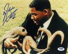 """Will Smith Autographed 8""""x 10"""" Men In Black Holding Baby Alien Photograph - PSA/DNA COA"""