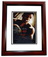 "Will Smith Autographed ""ALI"" 8x10 inch Mini Poster Photo MAHOGANY CUSTOM FRAME"