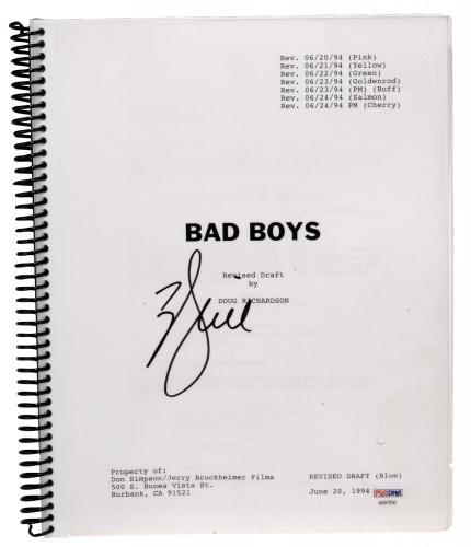 Will Smith Autographed Bad Boys Replica Movie Script - PSA/DNA COA