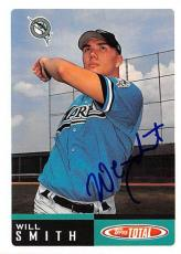 Will Smith autographed baseball card (Florida Marlins FT) 2002 Topps #281