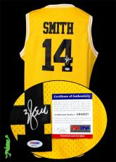 Will Smith Autographed Signed Bel-air Basketball Jersey Fresh Prince Psa Coa