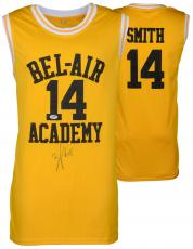 Will Smith Autographed Yellow Bel Air Academy Jersey - PSA/DNA