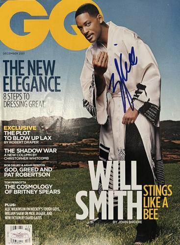 Will Smith BAD BOYS Signed NO LABEL GQ Magazine JSA