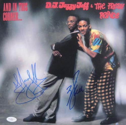 """Will Smith DJ Jazzy Jeff Signed FRESH PRINCE 12"""" LP JSA"""