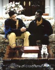 Will Smith & Don Cheadle Fresh Prince of Bel-Air Signed 11X14 Photo PSA #AB62009
