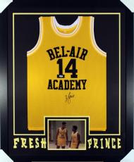 "Will Smith Framed & Autographed ""fresh Prince Of Bel-air"" Jersey Psa/dna"