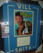 Will Smith Fresh Prince Bel Air Autograph Signed Double Matted & Framed Jsa Coa