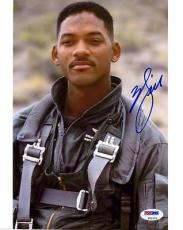 Will Smith Independence Day Signed 8x10 Photo Psa/dna #t51279