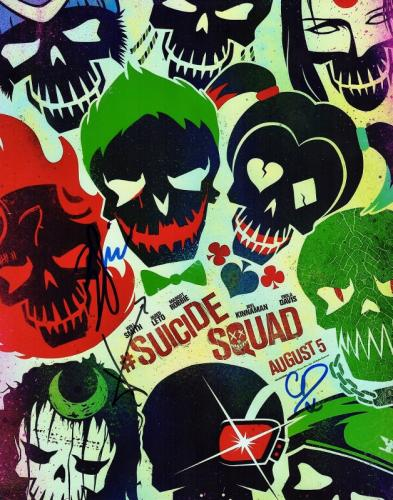 Will Smith, Jared Leto, and Cara Delevingne Signed - Autographed Suicide Squad 11x14 inch Photo - Guaranteed to pass PSA or JSA