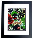 Will Smith, Jared Leto, and Cara Delevingne Signed - Autographed Suicide Squad 11x14 inch Photo BLACK CUSTOM FRAME - Guaranteed to pass PSA or JSA