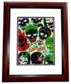 Will Smith, Jared Leto, and Cara Delevingne Signed - Autographed Suicide Squad 11x14 inch Photo MAHOGANY CUSTOM FRAME - Guaranteed to pass PSA or JSA
