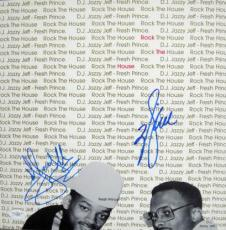 "Will Smith Jazzy Jeff Signed ROCK THE HOUSE 12"" LP JSA"