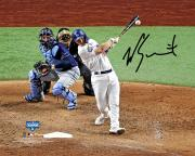 """Will Smith Los Angeles Dodgers 2020 MLB World Series Champions Autographed 8"""" x 10"""" Hitting Photograph"""