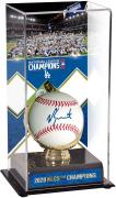 Will Smith Los Angeles Dodgers Autographed Baseball and 2020 National League Champions Sublimated Display Case Baseball
