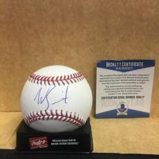Will Smith Los Angeles Dodgers Signed M.l. Baseball Rookie Year Beckett Coa