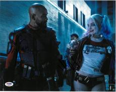 Will Smith Margot Robbie Signed Suicide Squad Auto 11x14 Photo PSA/DNA #AB92534