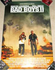Will Smith & Martin Lawrence Bad Boys 2  Autographed Poster