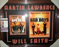 Will Smith & Martin Lawrence Bad Boys Signed Autographed Matted & Framed Jsa Coa