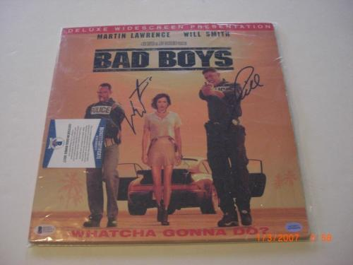 Will Smith & Martin Lawrence Bad Boys Beckett/coa Signed Laserdisc Album