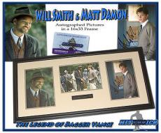 WILL SMITH & MATT DAMON Signed LEGEND OF BAGGER VANCE Custom Framed 16x33 PHOTO